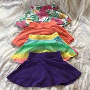 Children's Place lot of 4 skirts